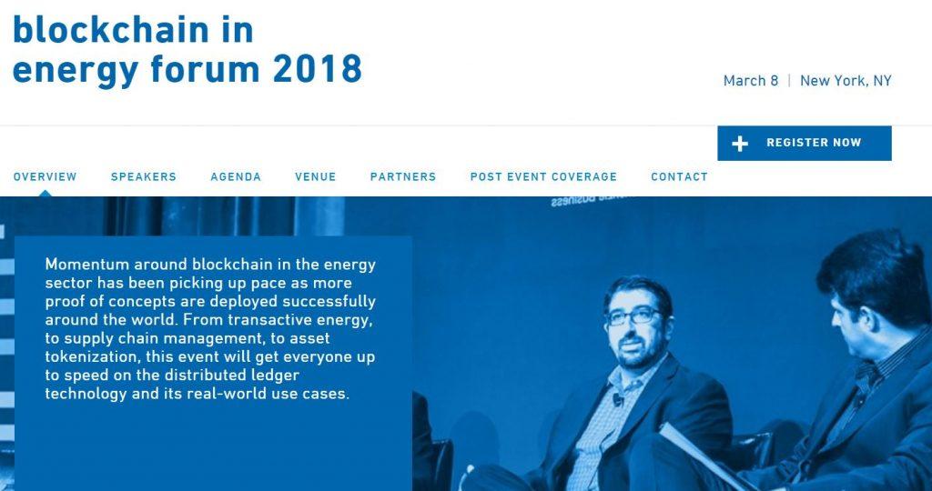 Blockchain in Energy Forum 報告レポート